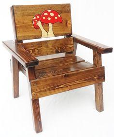 Los niños de madera silla niño chico/chica por HappyChairsandMore