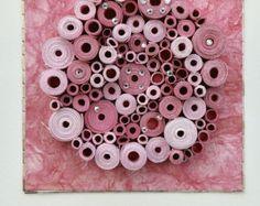Moderner Wandkunst moderne Papierkunst helle von LaurieBrownFineArt