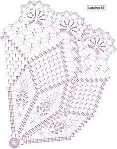 61 ideas for crochet edging ruffle Crochet Doily Diagram, Crochet Doily Patterns, Thread Crochet, Filet Crochet, Crochet Motif, Crochet Stitches, Crochet Dollies, Crochet Cape, Pineapple Crochet