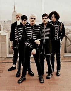 My Chemical Romance Black Parade. My Chemical Romance, Black Parade, Mikey Way, Frank Iero, Gerard Way, Emo Bands, Music Bands, Mcr Band, Rock Bands