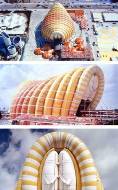 Expo'70 Fuji Group Pavilion, Yutaka Murata, Kawaguchi & Engineers (1970). http://www.kawa-struc.com/projects/projects_0302_e.htm