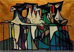 oscar dominguez paintings | oscar dominguez--mujeres en el balcon | arte que ver | Pinterest