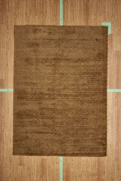 "5' 3"" x 7' 7"" Brown Solid Handloom Area Rug Modern"