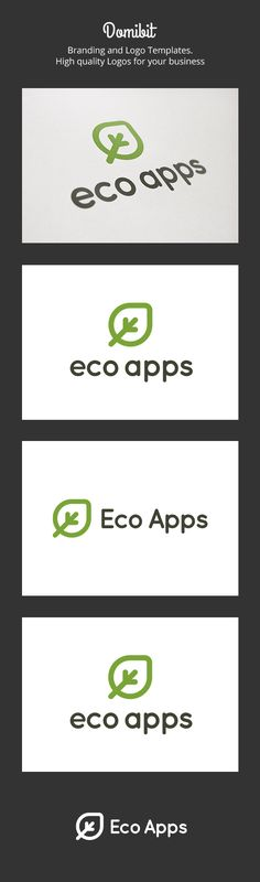 Eco Apps Logo #GraphicRiver Eco Apps: is a logo that can be used in software development companies and applications in ecological profile companies in technological oriented companies ecology, among other uses. Its design is very simple and is easy to configure. Ready to print. Customizable 100% CMYK AI – EPS Font used Quicksand If you need a unique logo design could contact me here You can also find more logos in domibit and domibit2 Created: 4 December 13 Graphics Files Included: Vector…