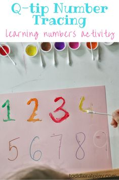 Number Tracing Learn to write and memorize letters with this simple and fun preschool activity, Q-tip Number Tracing!Learn to write and memorize letters with this simple and fun preschool activity, Q-tip Number Tracing! Pre K Activities, Preschool Learning Activities, Preschool Crafts, Number Activities For Preschoolers, Letter H Activities For Preschool, Activities For 3 Year Olds, Number Games Preschool, Numbers For Toddlers, Teaching Ideas