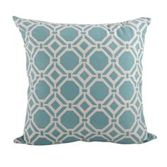 Dress up any room in contemporary style with this decorative pillow. This printed geo design pillow is perfect for everyday home decor. Pillow inserts included.