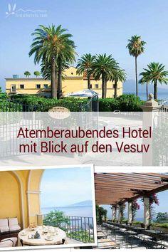 Ruhig gelegen im beschaulichen Fischerdörfchen Seiano in der Region Kampanien thront oberhalb des tiefblauen Mittelmeers das 5-Sterne Grand Hotel Angiolieri. Das wunderschöne Luxus Boutique Hotel an der sorrentinischen Küste hat einen atemberaubenden Blick auf den Golf von Neapel und den Vesuv und bietet mit seiner Ausgangslage ideale Bedingungen, um die Halbinsel von Sorrent zu erkunden.