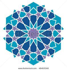 Arabic geometric pattern. Islamic style.