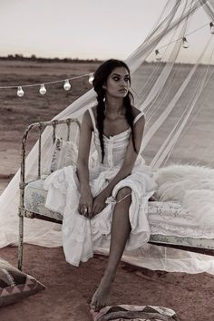 The bohemian version of white dress.Romantic and sexy at the same time. S.