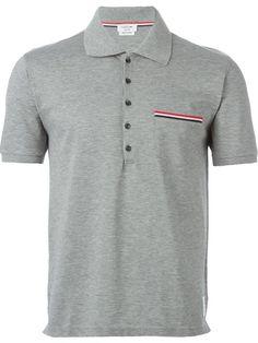THOM BROWNE Pocket Polo Shirt. #thombrowne #cloth #shirt