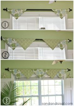 This is a super simple no-sew window treatment idea. Click through for more no-sew window treatments.