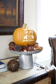 Use a Dremel rotary tool to carve a craft pumpkin perfect for fall. Get started with our free pumpkin carving patterns.