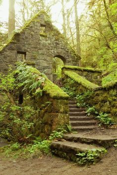 Top 10 Abandoned Places / Buildings, Abandoned Stone House, Forest Park, Portland