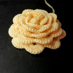 Rolled up crochet rose