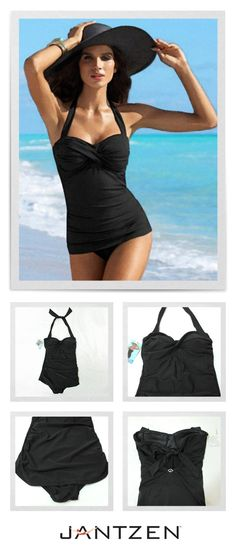 Retro Vamp Maillot One-Piece Swimsuit  with <3 from JDzigner www.jdzigner.com