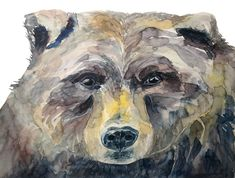 Can Hardly Bear It (Original) Watercolor Print, Watercolour Painting, Brown Bears, Eye For Detail, Love Photos, Pacific Northwest, North West, Art Boards, North America