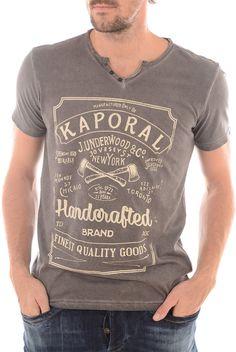 Tee shirt manches courtes  KAPORAL FINE SHALE