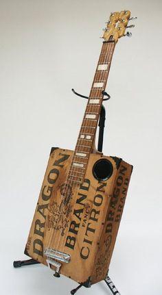 Ancient Dragon Acoustic Electric Guitar Handmade Antique. $495.00, via Etsy.