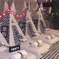 E pra terminar o dia, uma festa do pijama tema Formula 1, por @cabanasparty  Boa Noite!!  #kikidsparty