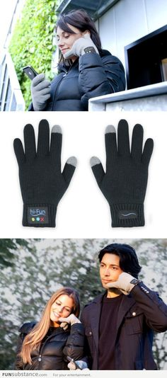 Now you can answer your phone with your hand (glove)!