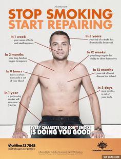 stop smoking start repairing #infographic