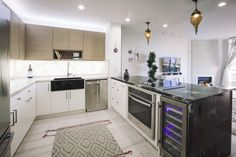 Wilshire corridor contemporary kitchen condominium complete renovation Condominium Renovation, Construction Services, Contemporary, Contemporary Kitchen, Home Decor, Kitchen, Renovations