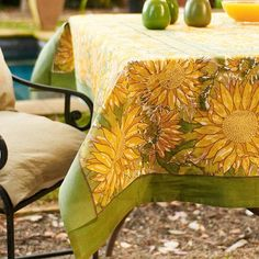 I pinned this Crespina Tablecloth from the Tuscan Kitchen event at Joss and Main!