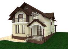 Constructia Caselor Particulare La GriLa Rosu Proiect Gratis Con Proiect Casa Gratis E 26 Con Proiect Casa Gratis E Gazebo, Outdoor Structures, Mansions, House Styles, Design, Home Decor, Cabin, Kiosk, Decoration Home