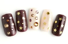 Nude and brown with gold stars