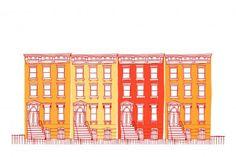 Row Houses   #Illustration