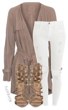 """""""Untitled #1735"""" by kimberlythestylist ❤ liked on Polyvore featuring Frame Denim and Schutz"""