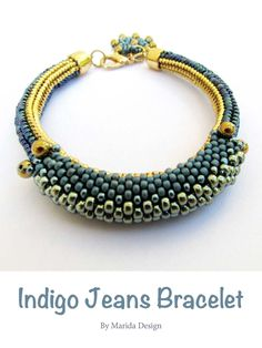 Make this fab denim-inspired bracelet - get the pattern here: http://www.joomag.com/magazine/digital-beading-magazine-issue-11/0912822001408173490