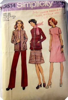 Vintage 1960s Simplicity 6614 Plus sz Cardigan by Denisecraft, $6.99