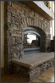 stone fireplace surrounds | ... Joseph Stone Fireplace Surround, Brown Sandstone Fireplace Surround
