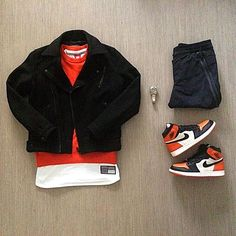 Outfit grid - Orange & black Nike
