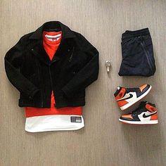 Outfit grid - Orange & black Nike