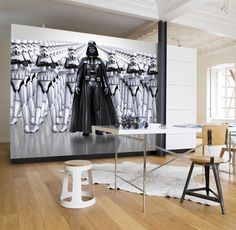 Giant size Star Wars Imperial Forces black and white paper wallpaper. Amazing decoration idea wall mural photo wallpaper for home interior walls. Express sipping available. Paper Wallpaper, Home Wallpaper, Wallpaper Stickers, Disney Wallpaper, Star Wars Tapete, Decoracion Star Wars, Tableau Star Wars, Poster Xxl, Star Wars Bedroom