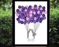 Wedding Sign In Guest Book Alternative Balloon by BrilliantIdea