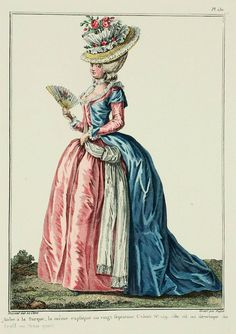 Robe à la Turque, the same explained in the twenty-seventh Book p. 159; it is here shown in profile or three-quarter view. (1780).  A Most Beguiling Accomplishment: Galerie des Modes