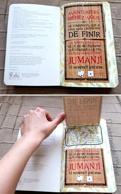 Wreck this journal - Saccage ce carnet - Page : Warning - Jumanji theme - Adventurers beware