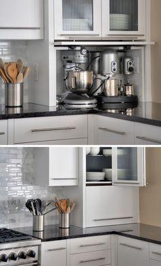 Image result for kitchen appliance garage ideas