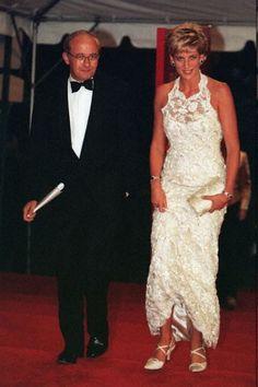 Princess Diana's iconic fashions: Princess Diana in White Lace