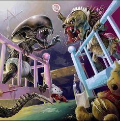 Alien baby VS. Predator baby