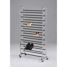 Chrome Finish 10-tier Shoe Storage Rack | Overstock.com Shopping - The Best Prices on Garment Racks & Hangers $69.99