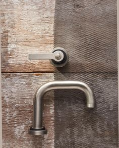 Our Bauhaus inspired Landmark Pure spout and lever in the finish stainless steel with matt black chrome Industrial Bathroom, Modern Bathroom, Bauhaus, Door Handles, Bathrooms, Chrome, Art Deco, House Design, Style Inspiration