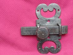 Old Wrought Iron Door Latch Made by a Blacksmith