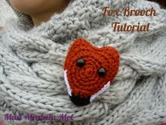 Marvellous Mad Madam Mel: Crocheted Fox Brooch Tutorial, yes FREE!!! thanks so xox
