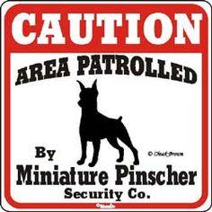Miniature Pinscher Sign