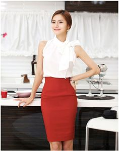Elegant Womens Fitted Business Knee Long Slimming High Waist Pencil OL Skirt US $8.65