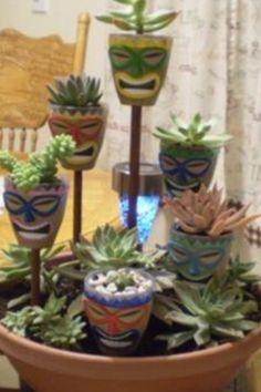 Tiki plant decor